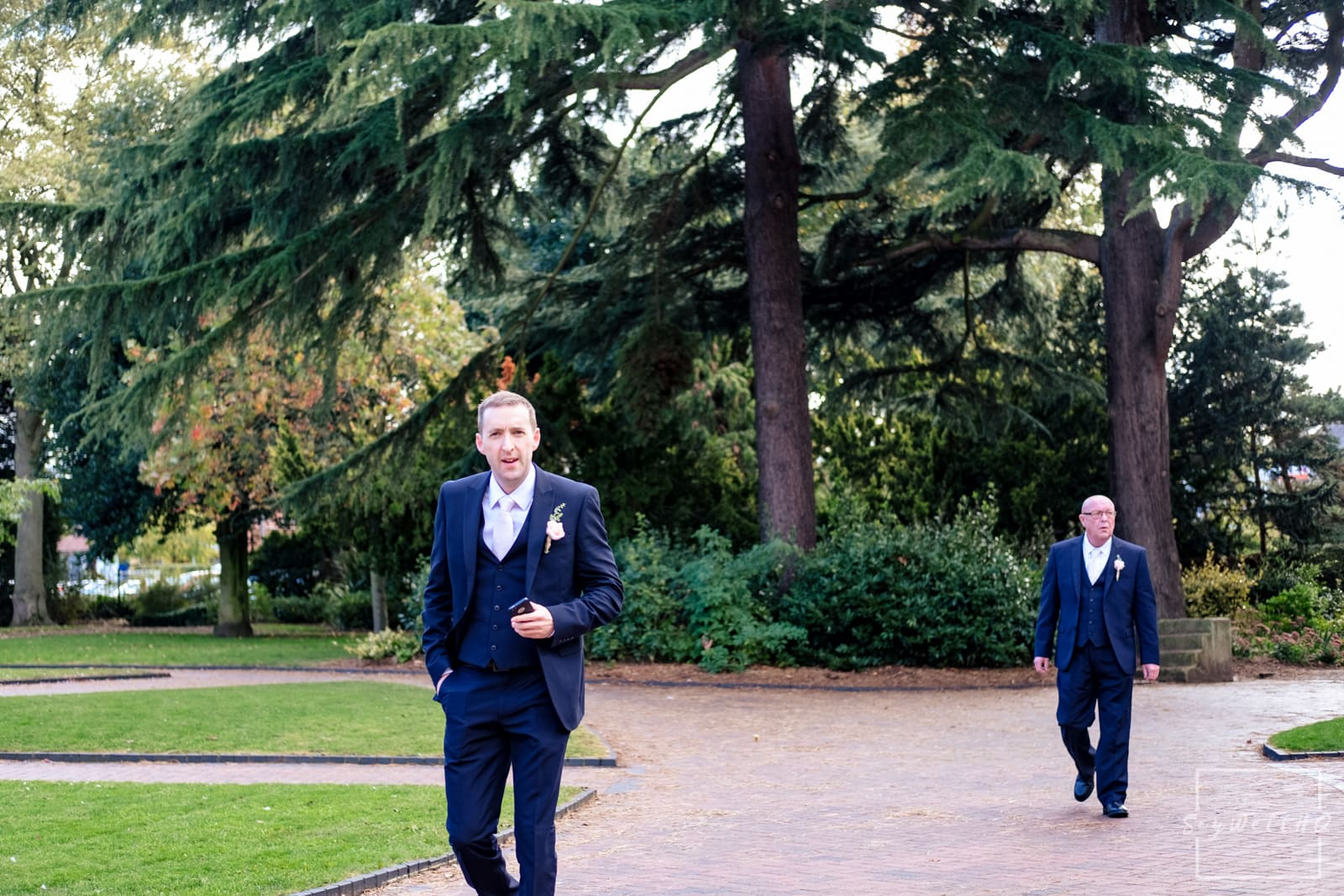 West Bridgford Wedding Photography + Bridgford Hall Wedding Photographer + Groom arrives for the civil wedding ceremony