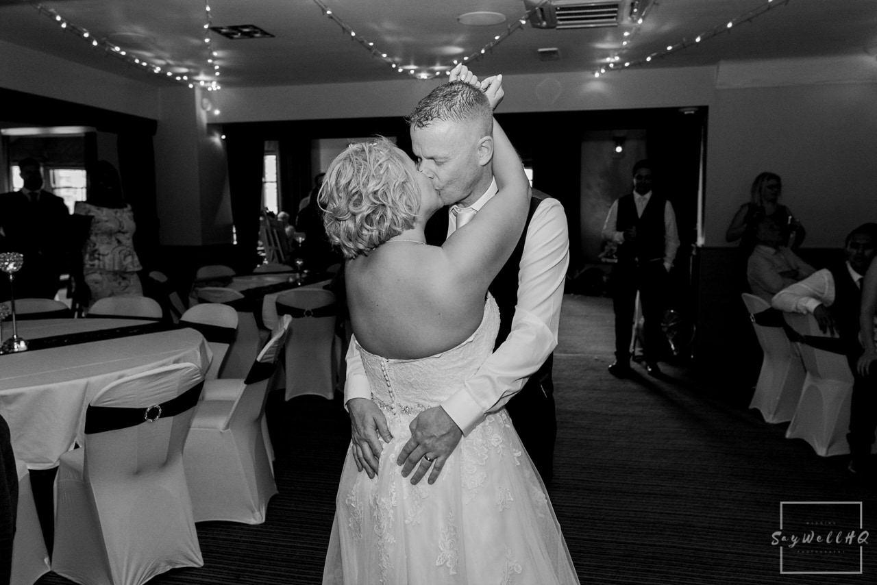Brewhouse and Kitchen Wedding Photography + The Riverside Gallery Wedding Photographer + bride and groom dance during the wedding first dance