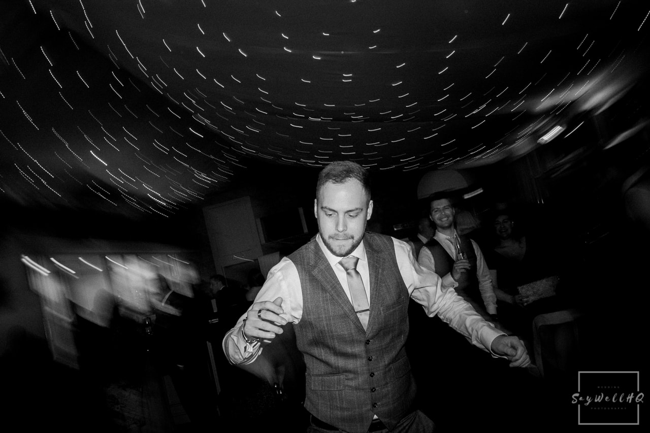 Norwood Park Wedding Photography + wedding guests dance and enjoy the wedding disco at Norwood Park