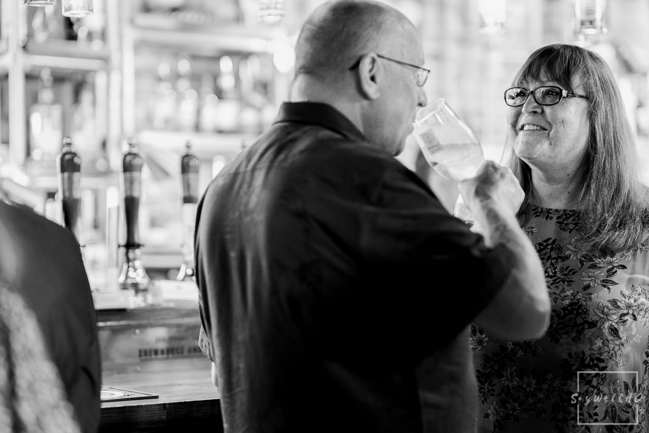 Brewhouse and Kitchen Wedding Photography + The Riverside Gallery Wedding Photographer  + Wedding guests arrive for the wedding ceremony