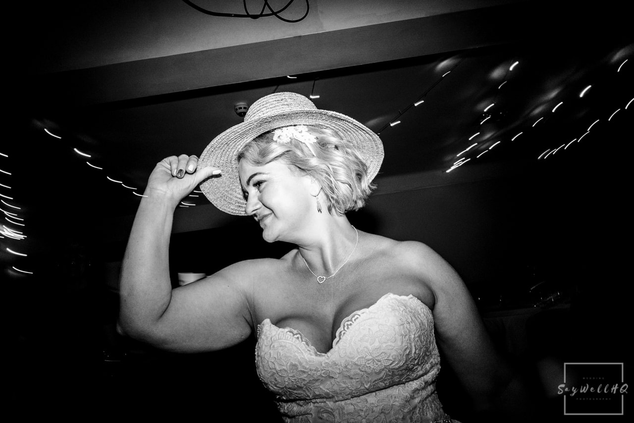 Brewhouse and Kitchen Wedding Photography + The Riverside Gallery Wedding Photographer + wedding guests enjoy dancing during the wedding disco