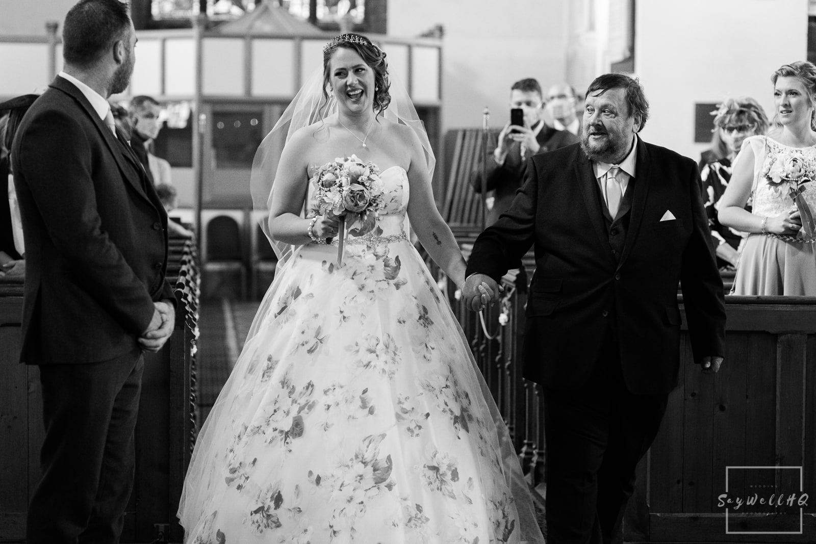Lincoln wedding photographer - bride sees here groom for the first time and is so happy