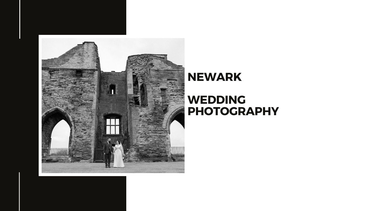 Newark Nottingham Wedding Photography + Bride and Groom picture in the grounds of Newark Castle