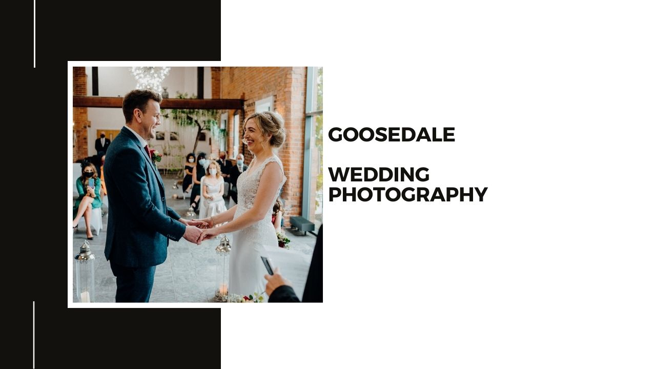 Goosedale Wedding Photography + Bride and Groom holding hands during the wedding ceremony
